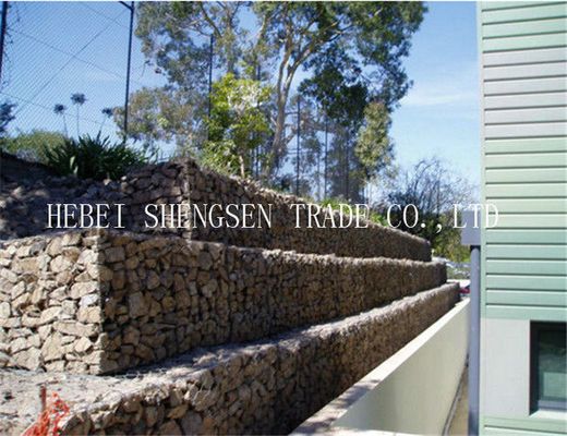 Galvanize Gabion Wire Mesh Double Twist Hexagonal Mesh Low Carbon Steel